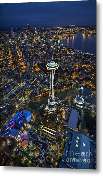 A Birds-eye View Of Seattle Metal Print