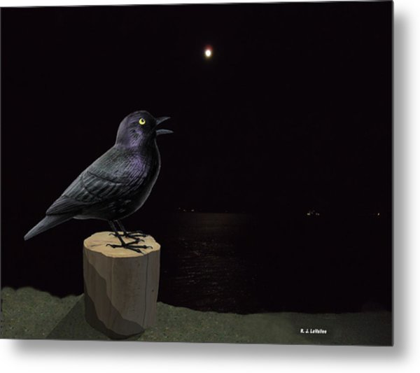 A Blackbird Singing In The Dead Of Night Metal Print