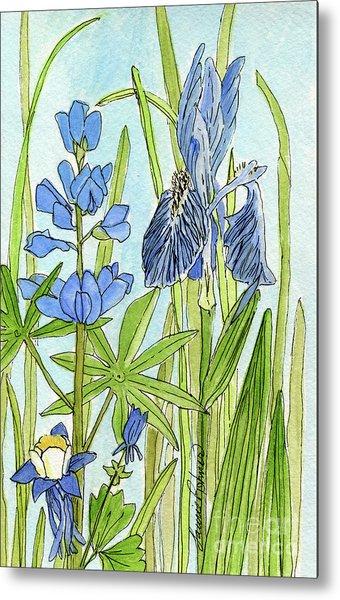 A Blue Garden Metal Print