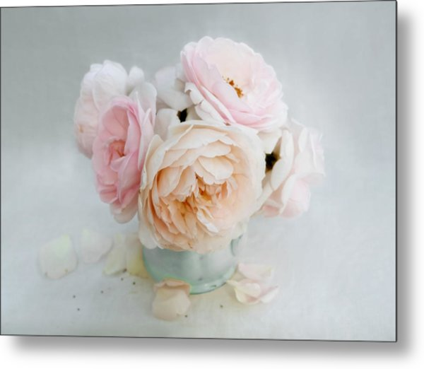 A Bouquet Of June Roses Metal Print