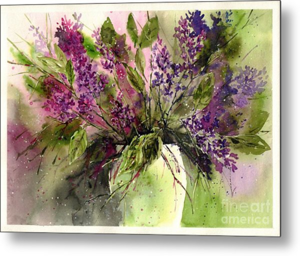 A Bouquet Of May-lilacs Metal Print