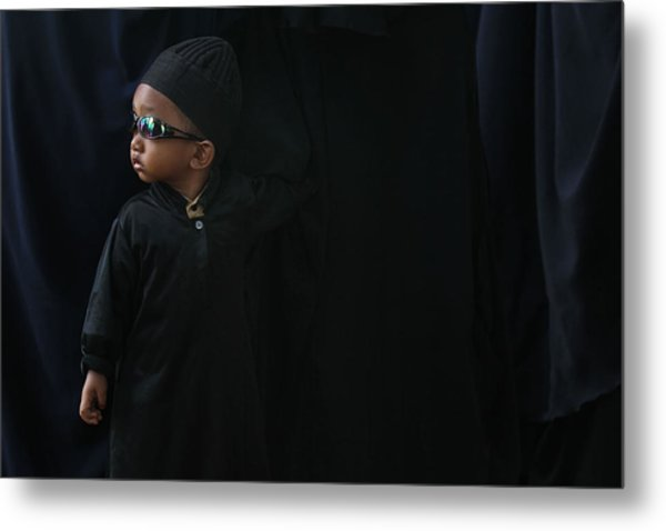 A Boy In The Rows Of Women Metal Print