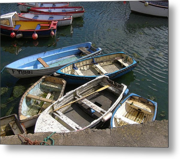 a Bunch of Boats Metal Print