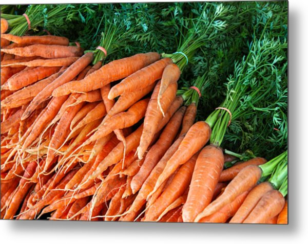 A Bunch Of Carrots Metal Print