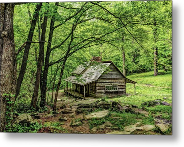 A Cabin In The Woods Metal Print