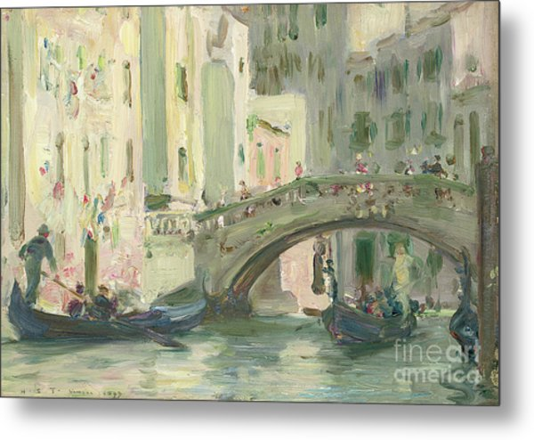A Canal In Venice, 1899 Metal Print