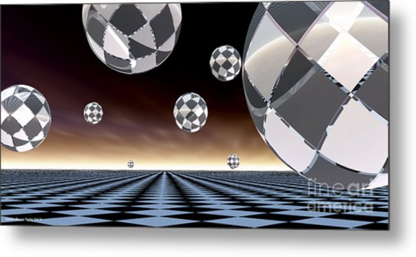 A Checkered Past Metal Print by Sandra Bauser Digital Art