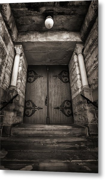A Church Door Metal Print