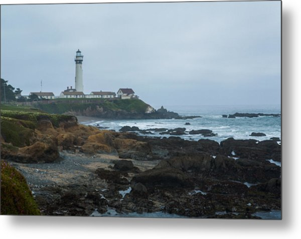 A Cloudy Day At Pigeon Point Metal Print