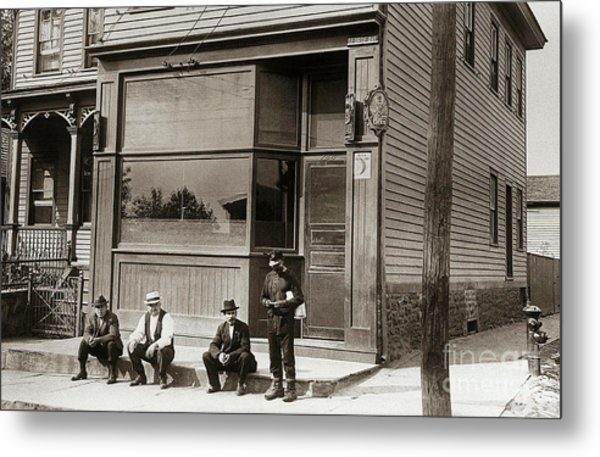 A Coal Miners Bar  George Ave Parsons Pennsylvania Early 1900s Metal Print
