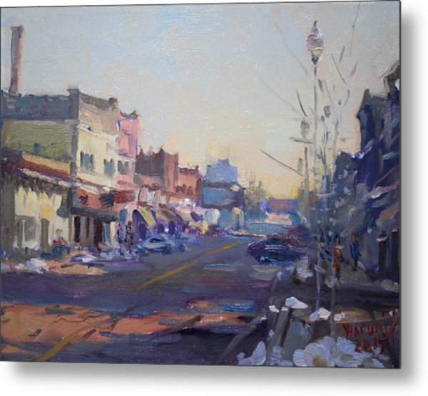 A Cold Sunny Day At Webster St Metal Print