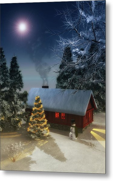 Metal Print featuring the painting  A Cold Winter by Jan Keteleer
