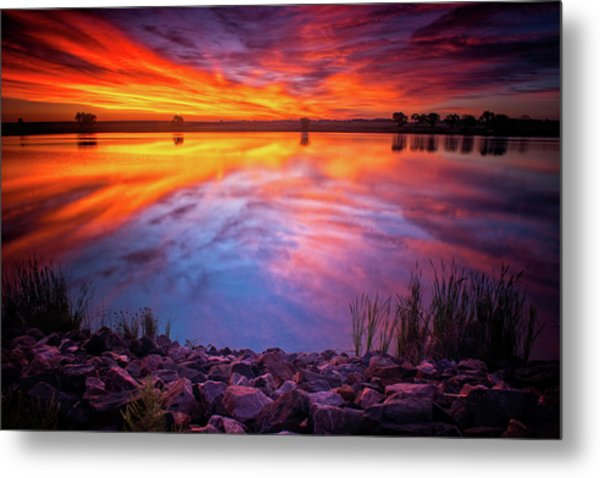 A Colorado Birthday Sunrise Metal Print
