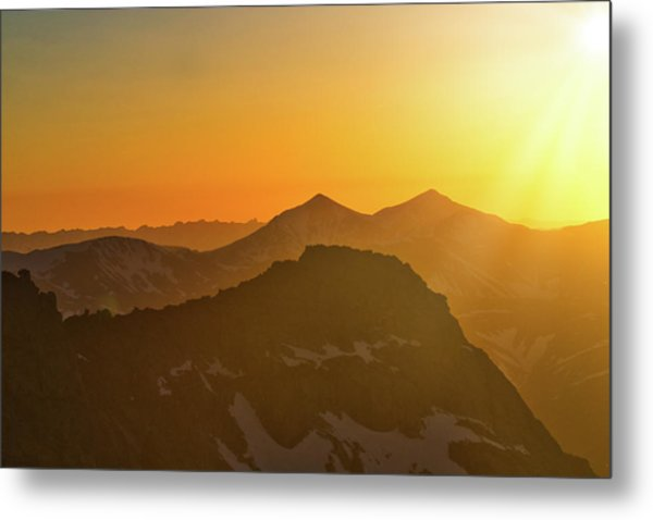 A Colorado Ending Metal Print