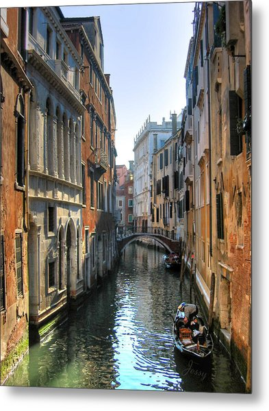 Metal Print featuring the photograph A Common Scene In Venice by Jessica Tabora