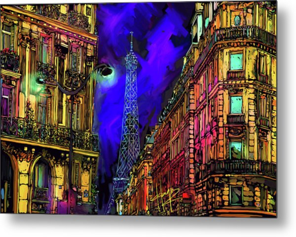 A Corner In Paris Metal Print