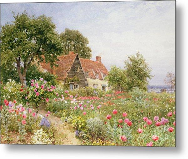 A Cottage Garden Metal Print