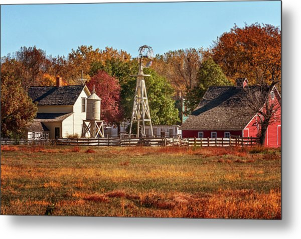 Metal Print featuring the photograph A Country Autumn by Susan Rissi Tregoning