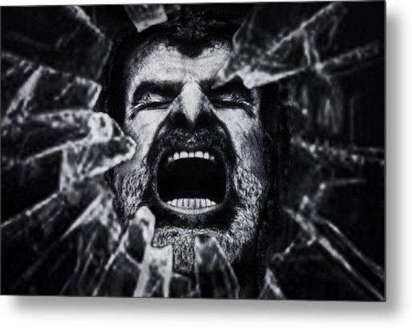 A Cry From The Dark Side Metal Print