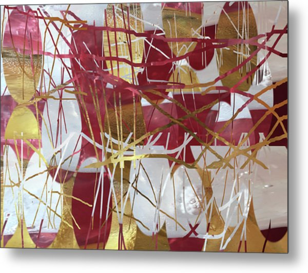A Dance Of Rubies And Old Gold Metal Print