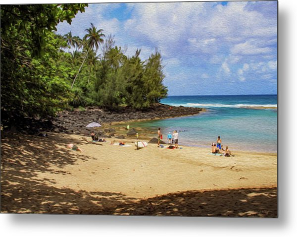 A Day At Ke'e Beach Metal Print