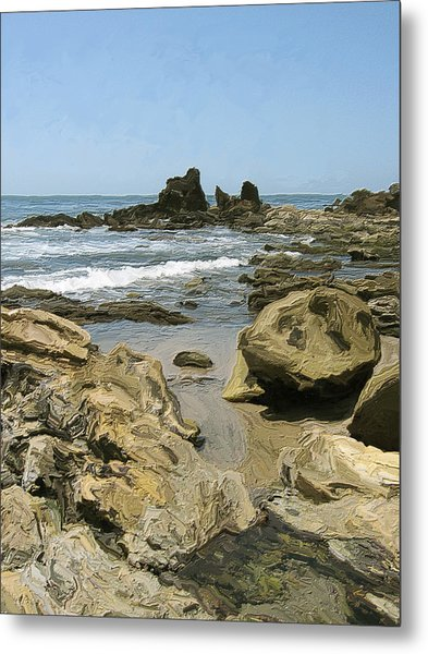 A Day At The Shore Metal Print by Carol Peck