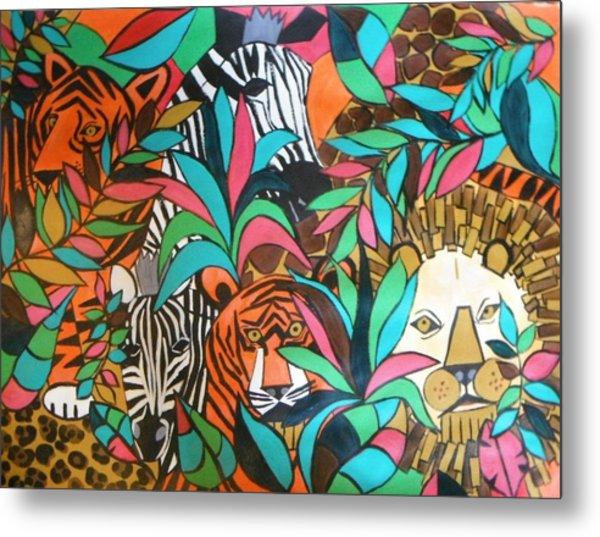 A Day At The Zoo Metal Print by Kelli Perk