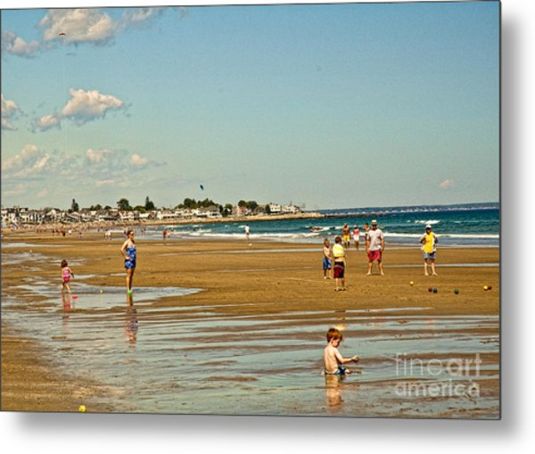 A Day At Wells Beach Metal Print