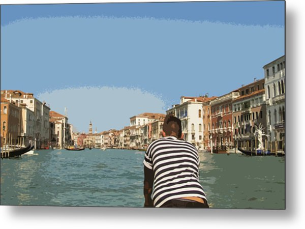 A Day In Venice Metal Print