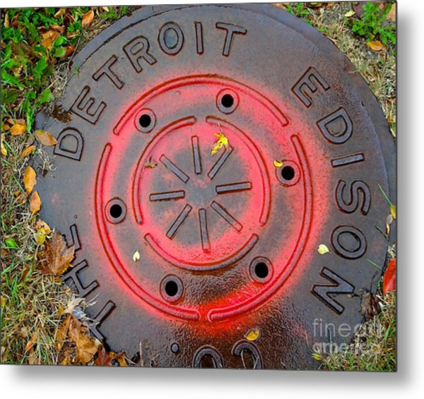 Red Circles  Metal Print