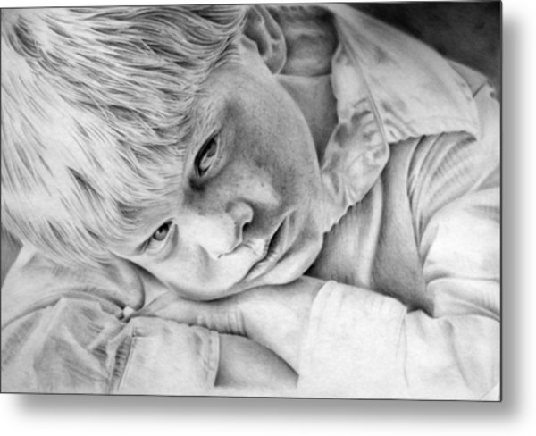 A Doleful Child Metal Print