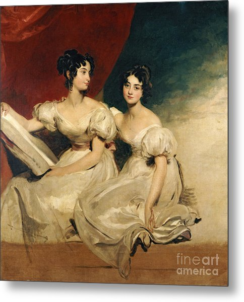 A Double Portrait Of The Fullerton Sisters Metal Print