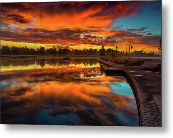 A Fall Sunrise Metal Print