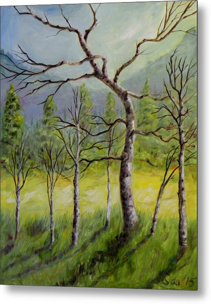 A Family Of Trees Metal Print