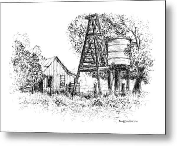 A Farm In Schroeder Metal Print