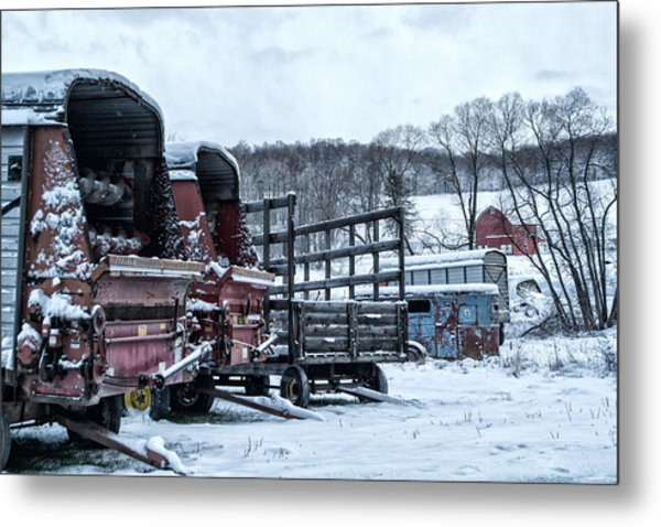 A Farmers Winter Metal Print