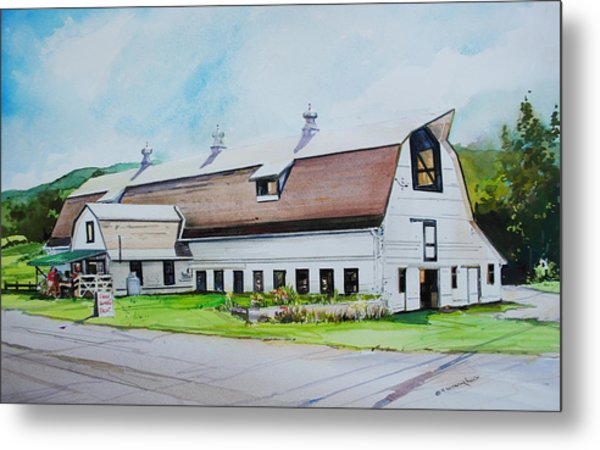 A Farmstand  In The Berkshires Metal Print