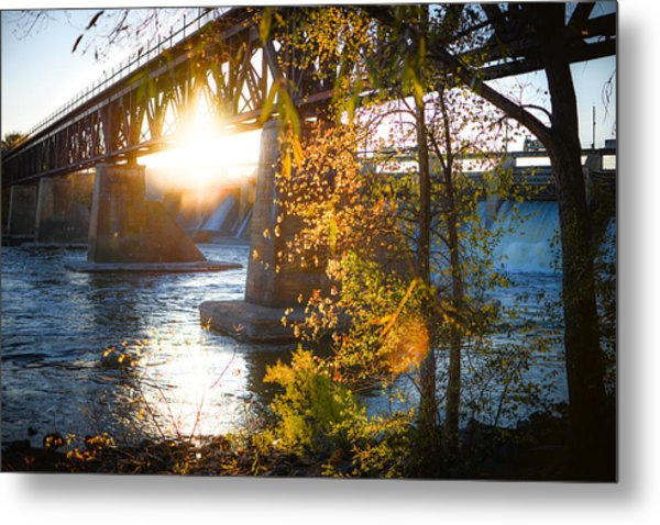 Metal Print featuring the photograph Blanchard Dam - A Favorite Place by Alex Blondeau