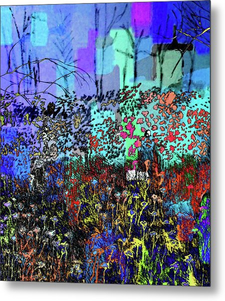 A Field Of Flowers Metal Print