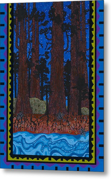 Metal Print featuring the painting A Forest Whispers by Chholing Taha