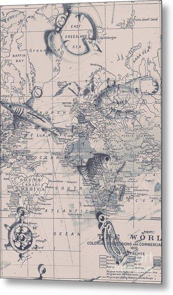 A Fishermans Map Metal Print