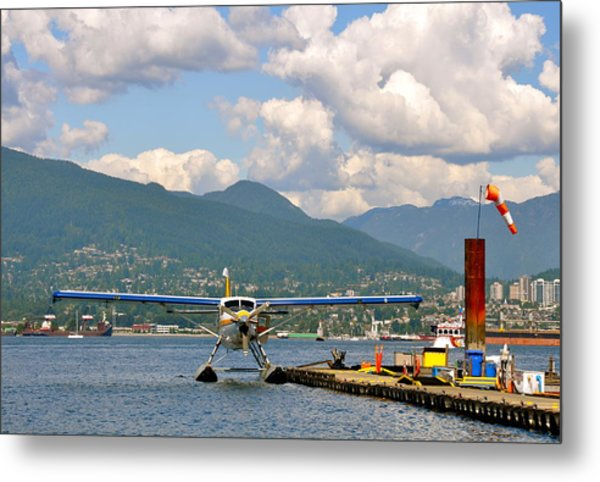 A Float Plane Metal Print