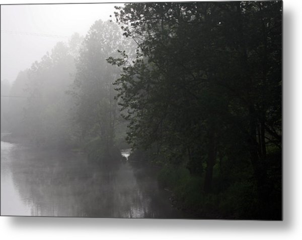 A Foggy Morning In Pennsylvania Metal Print