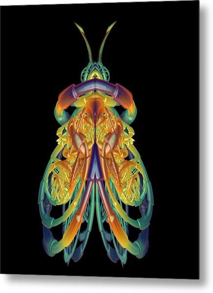A Fractal Bug Metal Print