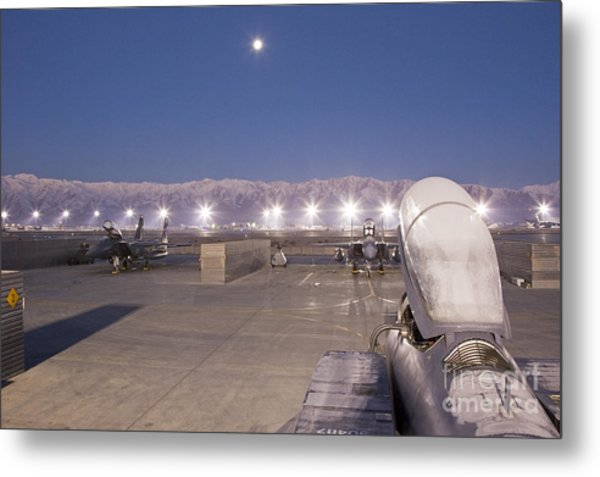 A Frosty Fighter Morning Metal Print by Tim Grams
