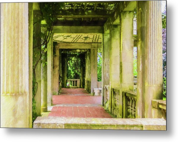 A Garden House Entryway. Metal Print