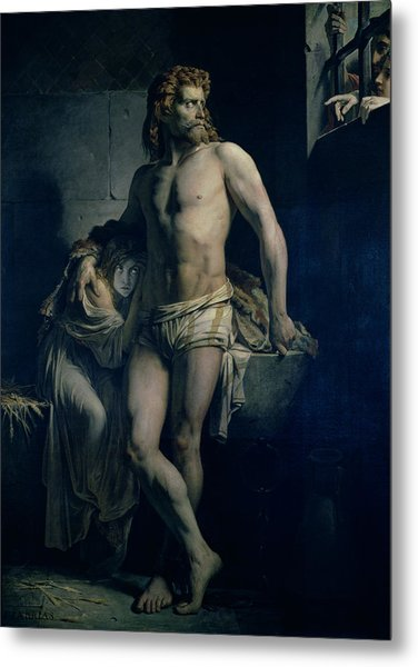 A Gaul And His Daughter Imprisoned In Rome Metal Print