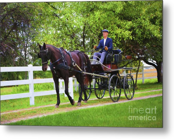 A Gentleman's Sunday Ride Metal Print