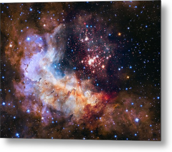Metal Print featuring the photograph a giant cluster of about 3,000 stars called Westerlund by Artistic Panda