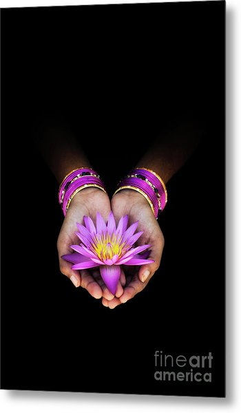 A Gift Metal Print by Tim Gainey